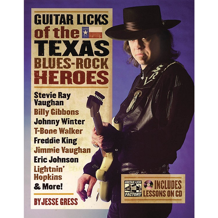 Backbeat Books Guitar Licks Of The Texas Blues Rock Heroes Book/CD