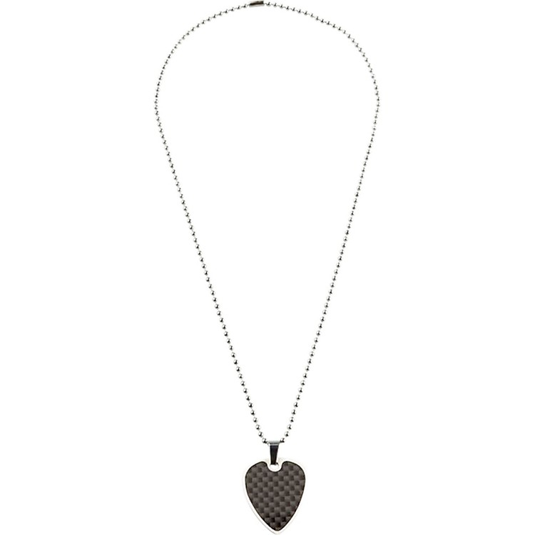 Clayton Guitar Pick Necklace Black Graphite Steel 22
