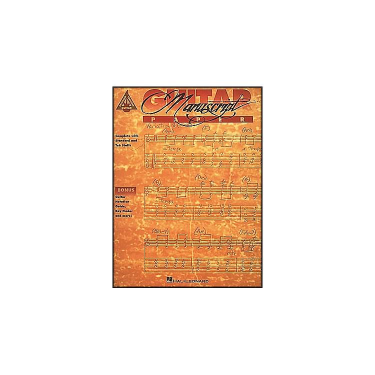 Hal LeonardGuitar Recorded Version Manuscript Paper