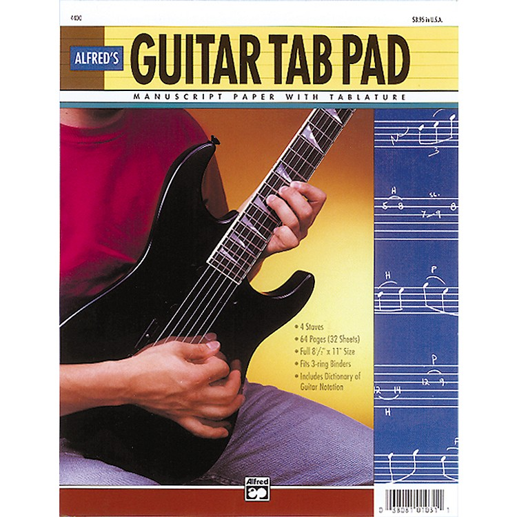 AlfredGuitar TAB Pad (8-1/2