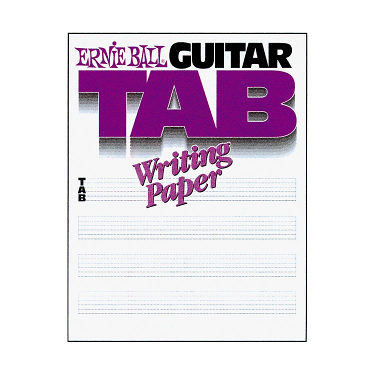 Ernie BallGuitar Tab Writing Paper