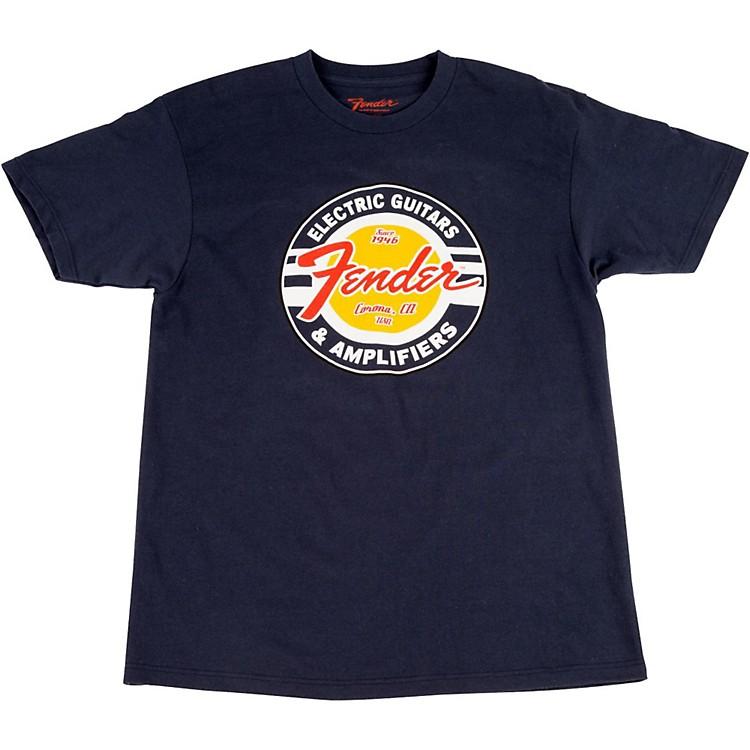 FenderGuitars and Amps Logo T-ShirtNavyXX-Large