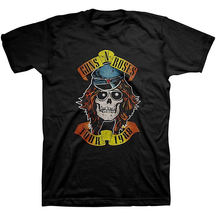 BravadoGuns N' Roses Appetite Tour 1988 T-ShirtBlackLarge