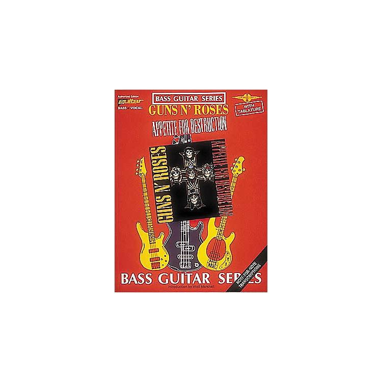 Cherry LaneGuns N' Roses Appetite for Destruction Bass Guitar Tab Songbook