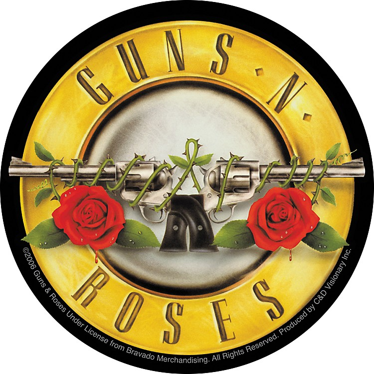 C&D Visionary Guns & Roses Sticker