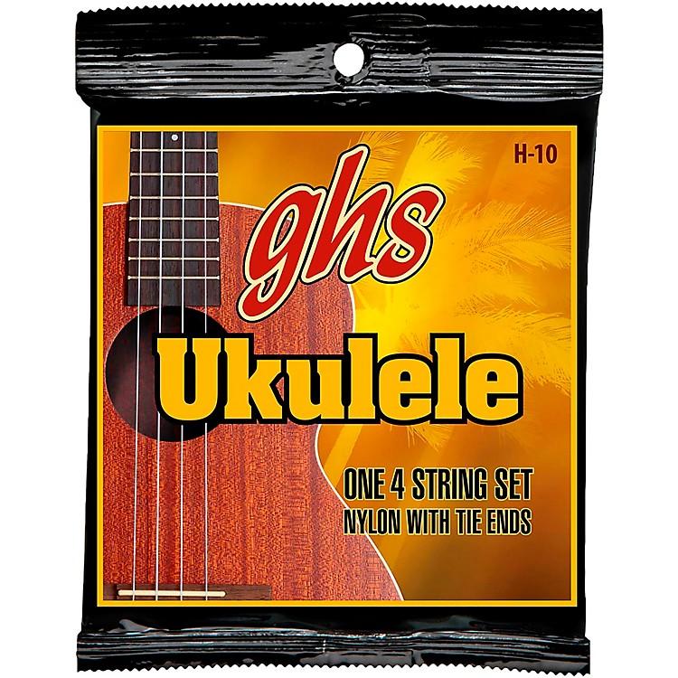 GHSH-10  Hawaiian Ukulele Black Nylon Strings
