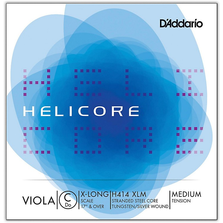 D'Addario H414 Helicore Long Scale Viola C String 17+ Extra Long Scale