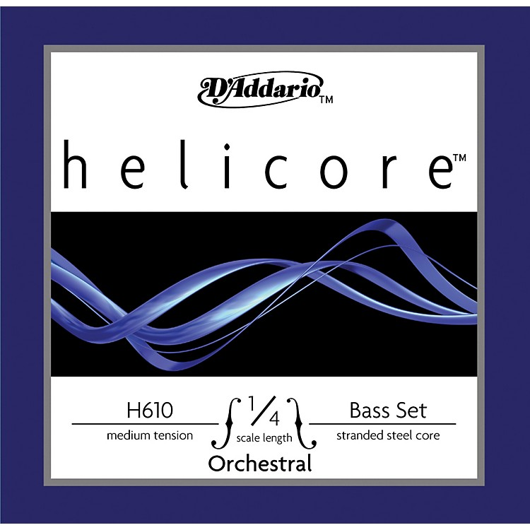 D'AddarioH610 Helicore Orchestral 1/4 Size Double Bass String Set