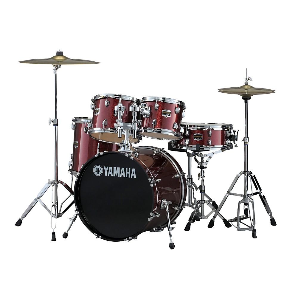 Yamaha Gigmaker 5 Piece Drum Set with 20u0026quot; Bass Drum Burgundy Glitter : eBay