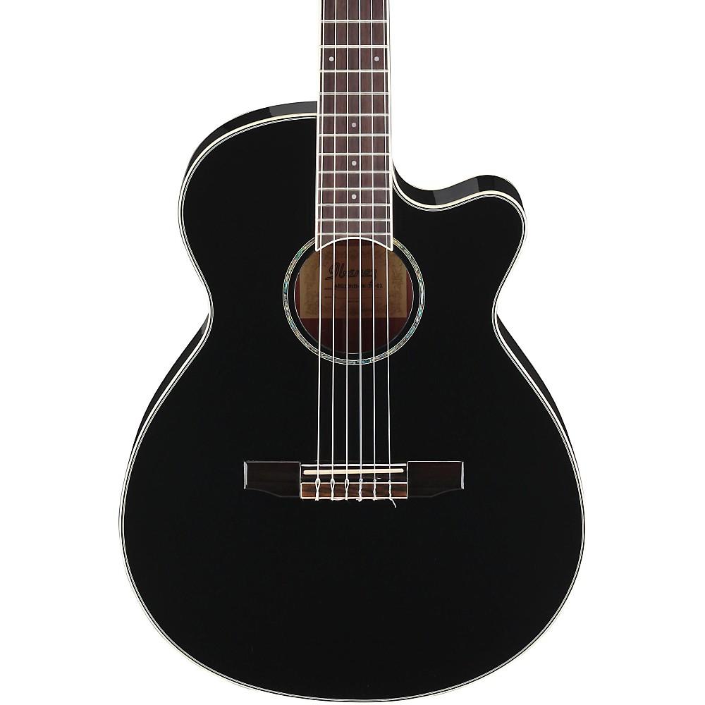 ... Ibanez AEG10N Nylon String Cutaway Acoustic-Elect ric Guitar Black