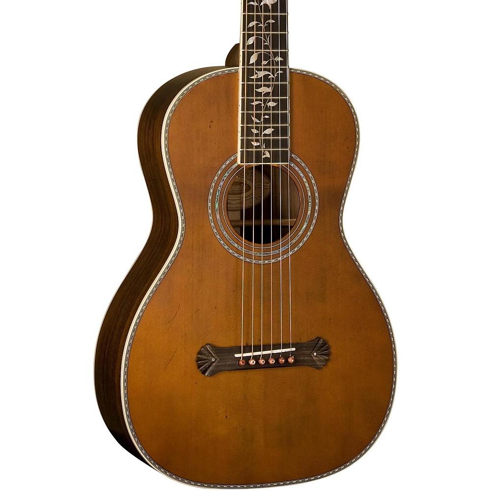 washburn vintage series parlor acoustic guitar natural 801128709109 ebay. Black Bedroom Furniture Sets. Home Design Ideas
