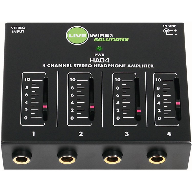 Live Wire HA04 4-Channel Stereo Headphone Amplifier