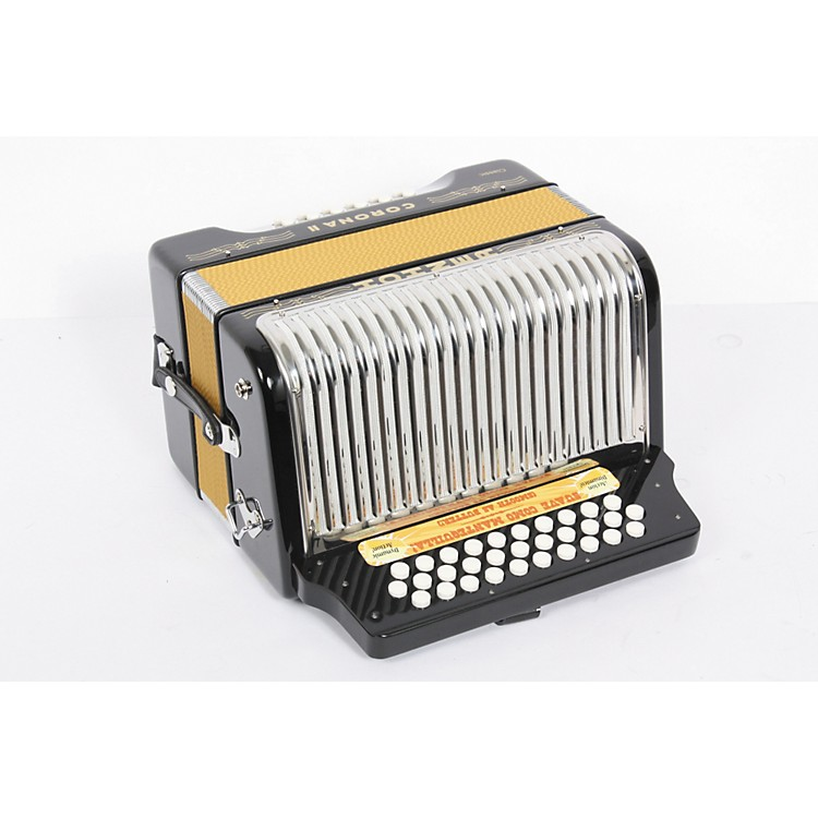 Hohner HA3522 Corona II Classic Diatonic Accordion Jet Black 889406536661