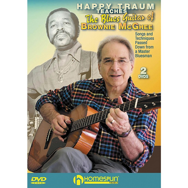 Homespun HAPPY TRAUM TEACHES THE BLUES GUITAR OF BROWNIE MCGHEE (2 DVD SET)