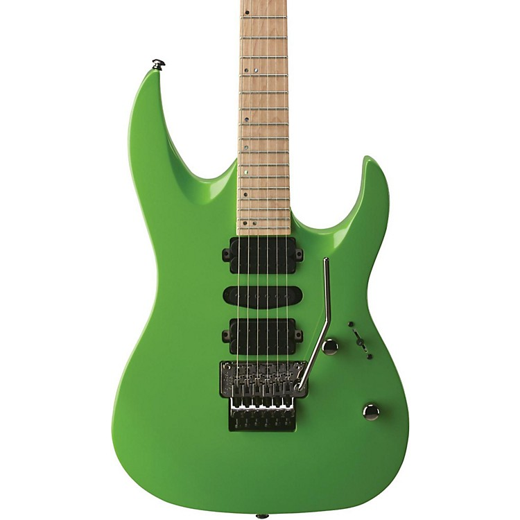 MitchellHD400 Hard Rock Double Cutaway Electric GuitarGreen Lemon