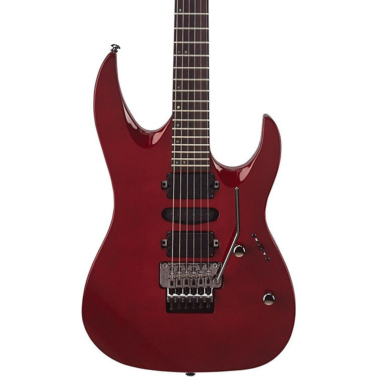 Mitchell HD400 Hard Rock Double Cutaway Electric Guitar Transparent Red
