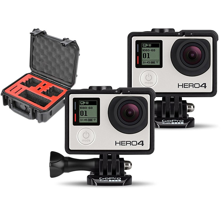 GoProHERO4 Black - Music Pair with Double Case