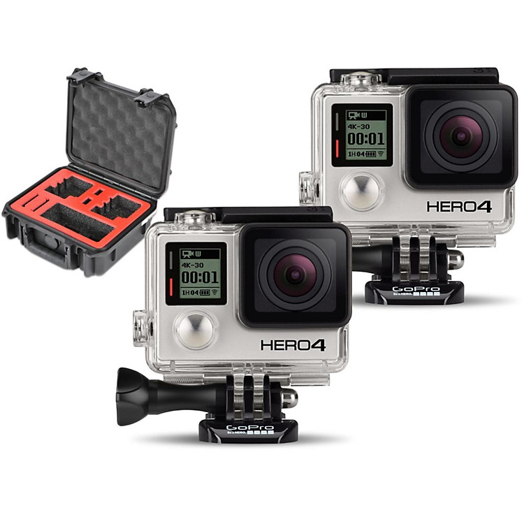 GoPro HERO4 Black - Standard Pair with Double Case
