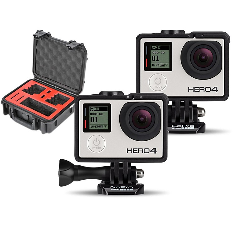 GoProHERO4 Silver - Music Pair with Double Case