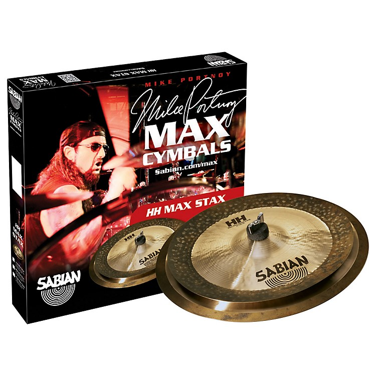 SabianHH Low Max Stax Cymbal Pack Brilliant Finish12 Inch Kang, 14 Inch CrashBrilliant