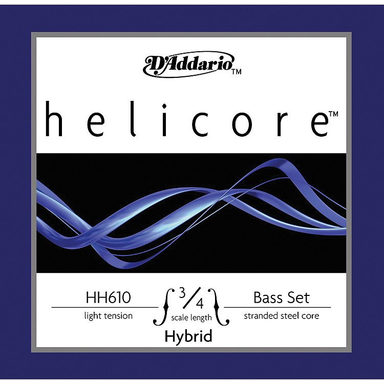 D'Addario HH610 Helicore Hybrid 3/4 Size Double Bass String Light Set