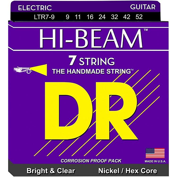 DR StringsHI-BEAM Nickel Plated 7-String Electric Guitar Strings Lite (9-52)
