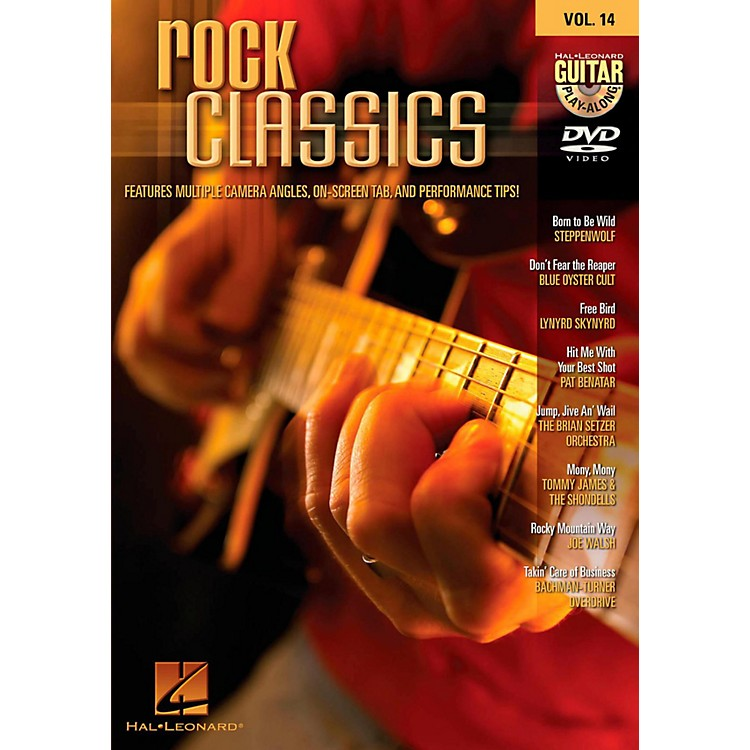 Hal Leonard HLP 320646 ROCK CLASSICS PLAY ALONG DVD VOL 14