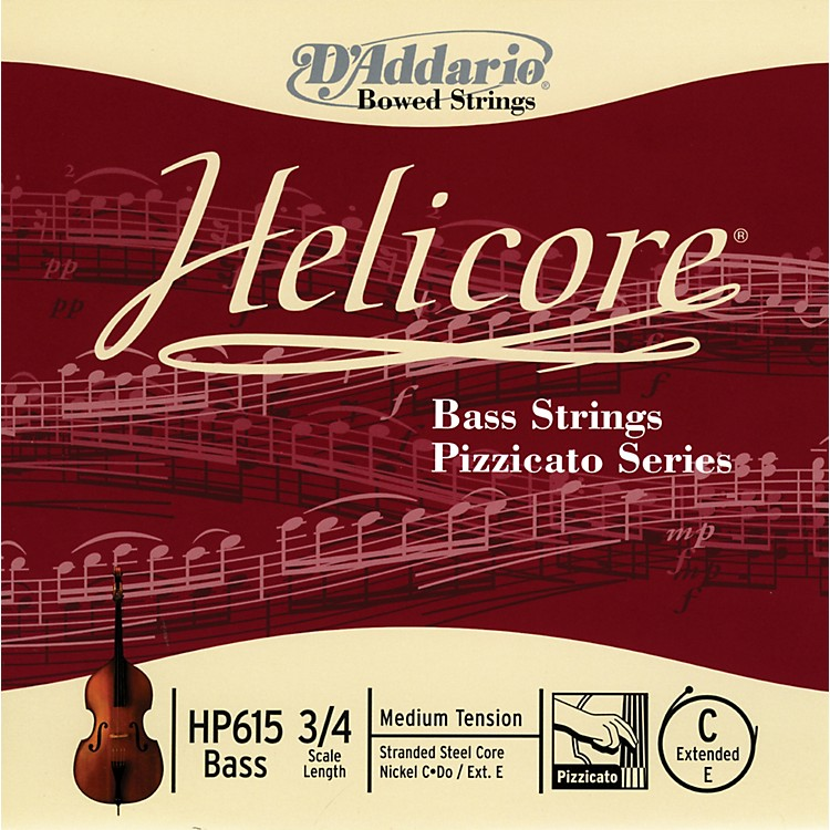 D'Addario HP615 Helicore Pizzicato 3/4 Size Double Bass C (ext. E) String
