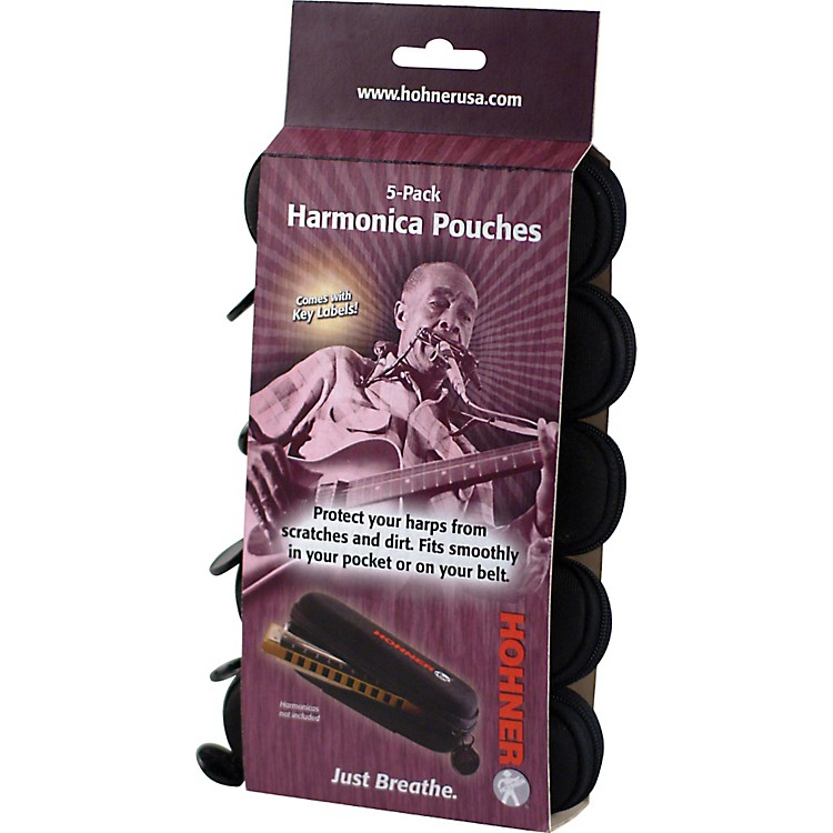 HohnerHPN5 Harmonica Pouch 5-Pack