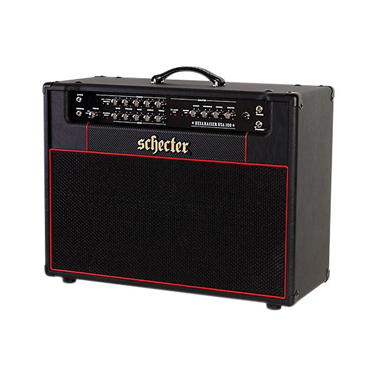 Schecter Guitar Research HR100-C212 Hellraiser USA 100C 100W 2x12 Tube Guitar Combo Amp Black