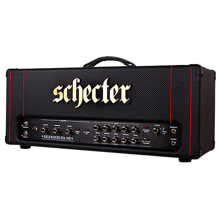 Schecter Guitar Research HR100-H Hellraiser USA 100W Tube Guitar Amp Head Black