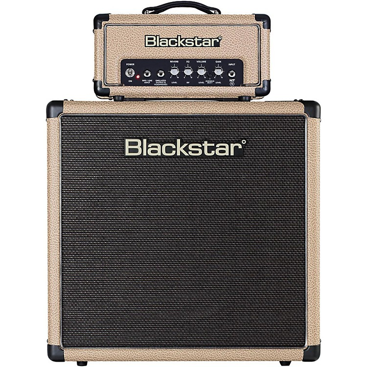 Blackstar HT-1R Mini Stack 1W Tube Guitar Head with HT-112 1x12 Speaker Cabinet Tan