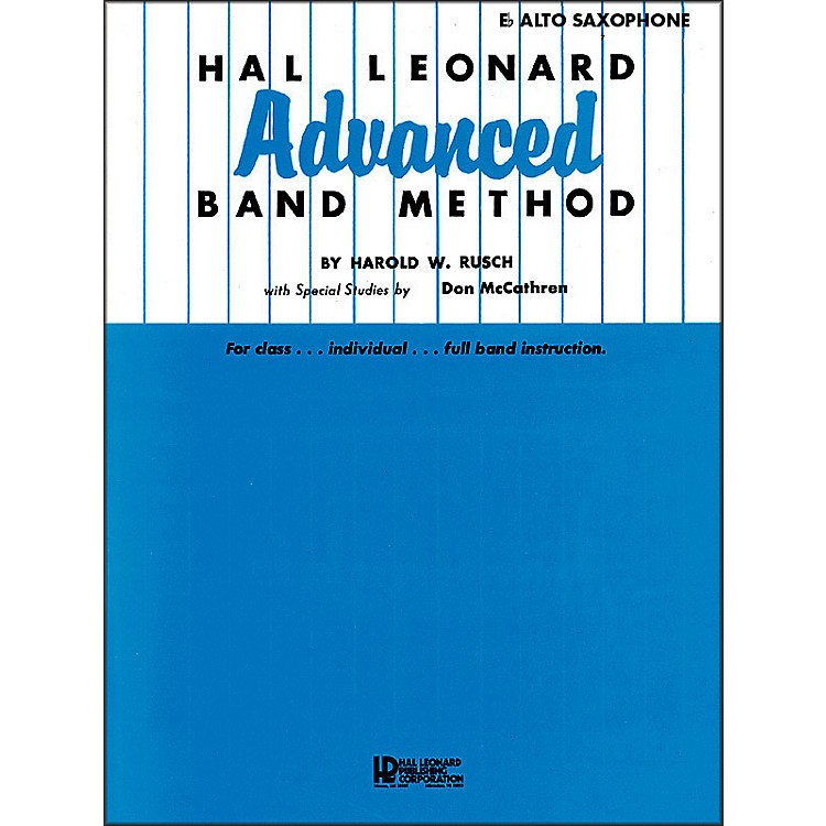 Hal Leonard Hal Leonard Advanced Band Method -E Flat Alto Saxophone
