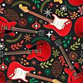Hal Leonard Hal Leonard Holiday Red Guitars Premium Gift Wrapping Paper
