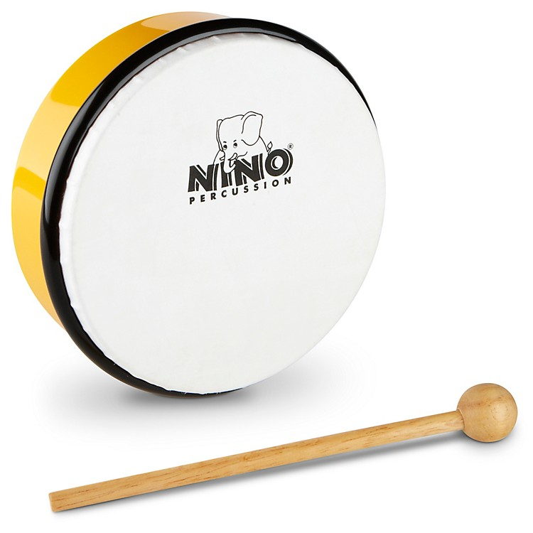 Nino Hand Drum with Beater Yellow 6 Inches