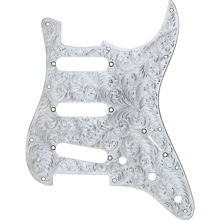 El Dorado Hand-Engraved Metal Strat Electric Guitar Pickguard