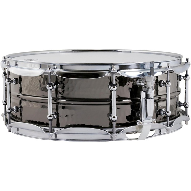 LudwigHand Hammered Black Beauty Snare Drum with Tube Style Lugs14 x 5 in.