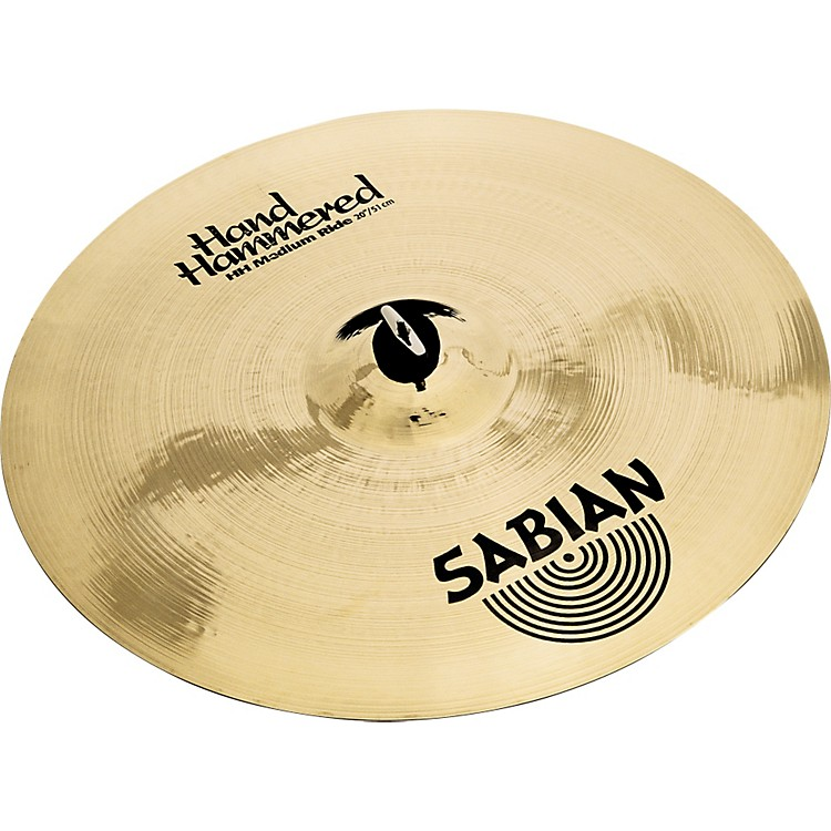Sabian Hand Hammered Medium Ride Cymbal Brilliant 20 in.