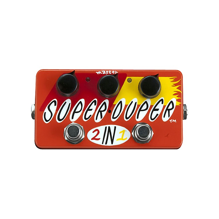 ZVex Hand-Painted Super Duper 2-in-1 Boost and Overdrive Guitar Effects Pedal