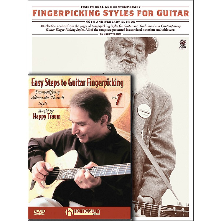 Homespun Happy Traum Fingerpicking Guitar Mega Pack