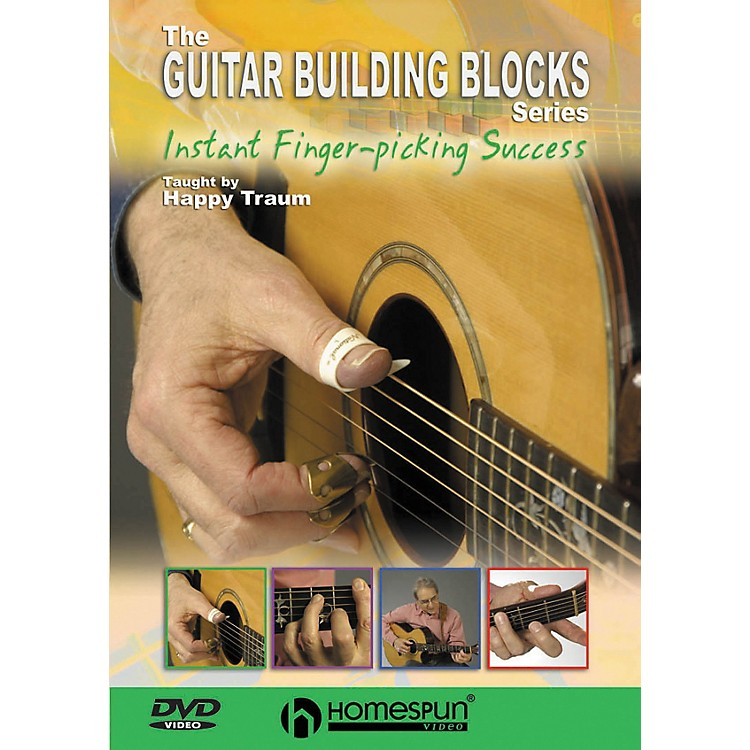 Homespun Happy Traum's Guitar Building Blocks: Fingerpicking 3 (DVD)