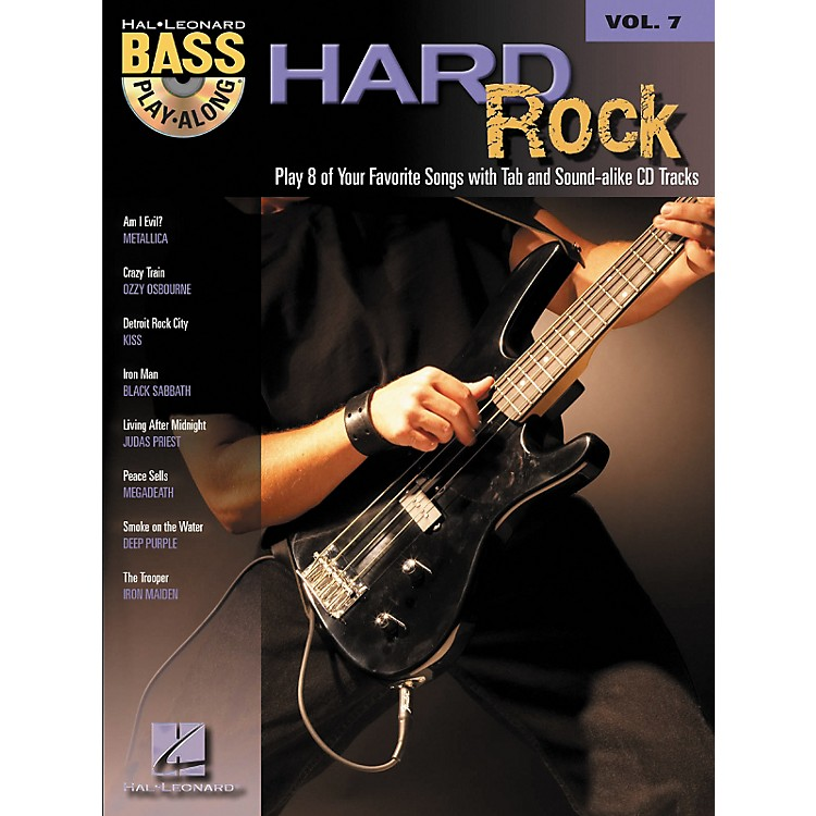 Hal Leonard Hard Rock Bass Guitar Play-Along Series Volume 7 Songbook with CD