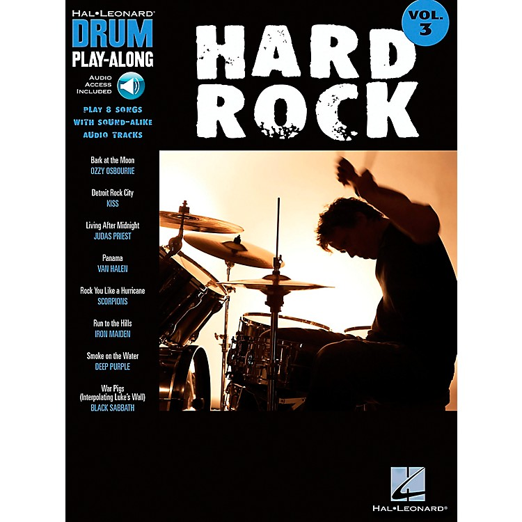 Hal Leonard Hard Rock Drum Play-Along Series Songbook with CD