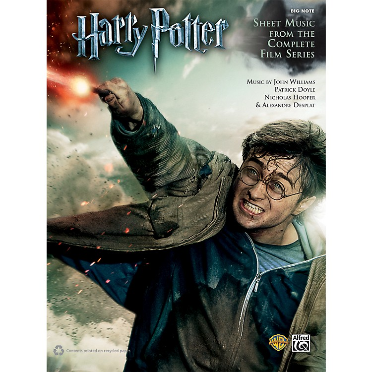 AlfredHarry Potter Sheet Music From The Complete Film Series Big Note Piano Book