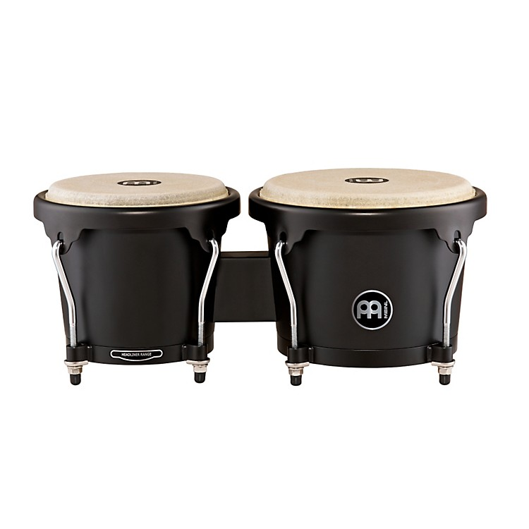 Meinl Headliner Designer Series Wood Bongos Phantom Black 6.75 & 8 in.