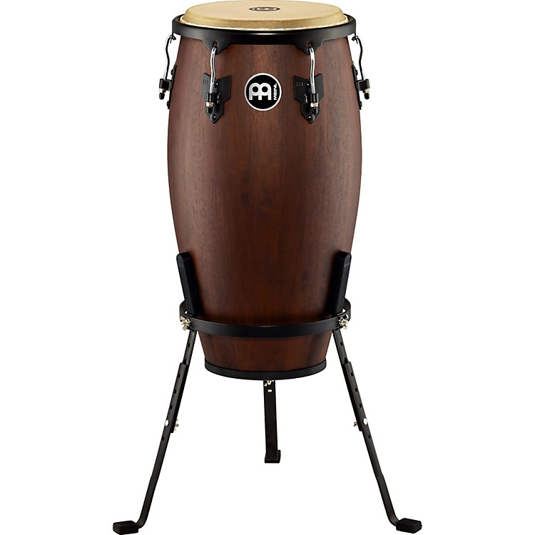 MeinlHeadliner Designer Wood Conga with Basket StandVintage Wine Barrel12-in.