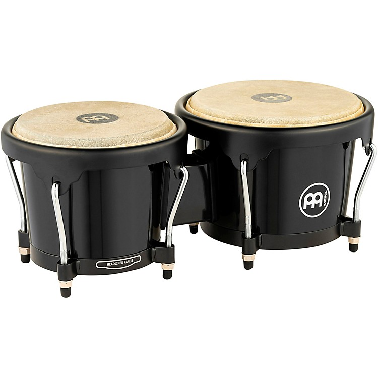 Meinl Headliner Fiberglass Bongo Black 6-3/4 in. and 7-1/2 in.