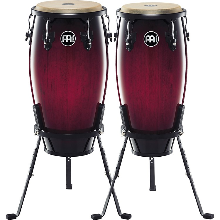 MeinlHeadliner Series 11 and 12 Inch Wood Conga Set with Basket Stands