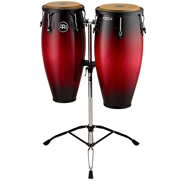MeinlHeadliner Wood Congas SetWine Red Burst10 and 11 in.