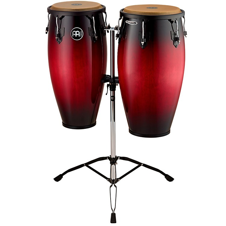 Meinl Headliner Wood Congas Set Wine Red Burst 11 and 12 in.